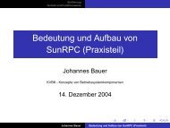 Bedeutung und Aufbau von SunRPC (Praxisteil) - Johannes Bauer