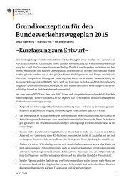 Grundkonzeption für den Bundesverkehrswegeplan 2015