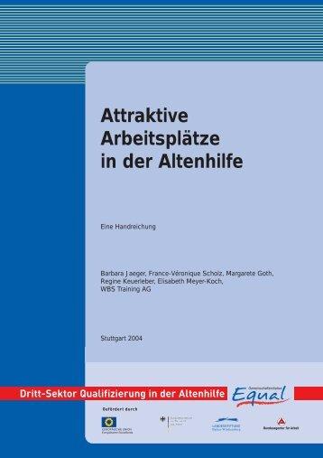 AP 2 Attraktive Arbeitsplätze in der Altenhilfe - Equal Altenhilfe