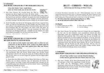 Befreiung und Heilung im Blut Christi - Geistliche Familie vom ...