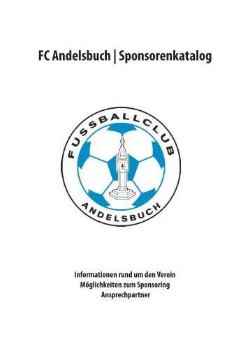 FC Andelsbuch | Sponsorenkatalog