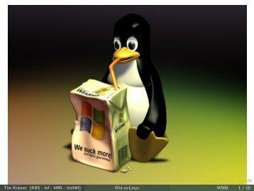 Tim Krämer (KBS - Inf - MIN - UniHH) Win-vs-Linux WS08 1 / 18