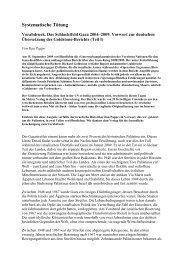 Systematische Tötung - Zum Vorabdruck des Goldstone-Berichts
