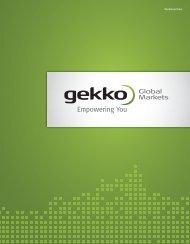 Werbebroschüre - Gekko Global Markets