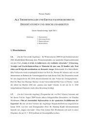 Betreute Dissertationen und Abschlussarbeiten Stauder, April 2011