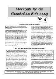 Merkblatt für die Gesetzliche Betreuung Nr. 5