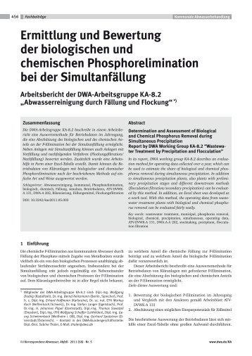 Ermittlung und Bewertung der biologischen und chemischen ... - KAN