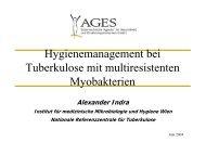 Hygienemanagement bei Tuberkulose mit multiresistenten ...