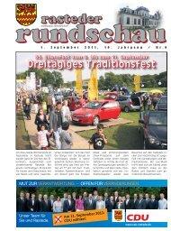 rasteder rundschau, Ausgabe September 2011