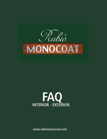 INTERIOR - EXTERIOR - Rubio Monocoat