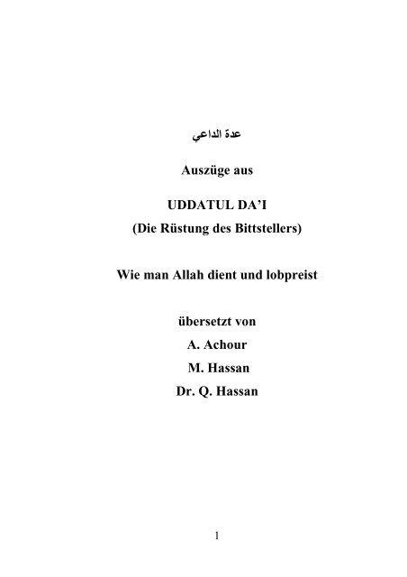 Vergebung bitten um islam jemanden Die üble