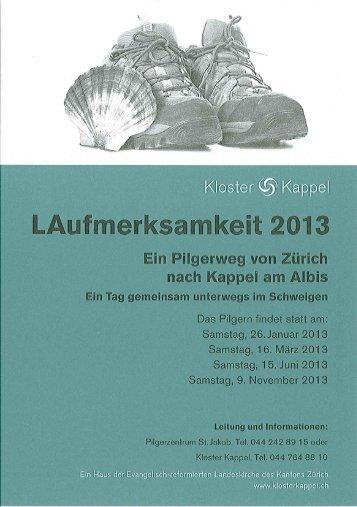 Pilgerzentrum St.Jakob Zürich 2013-II (PDF-Datei)