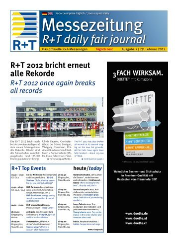 R+T daily fair journal - FH Kleffmann Verlag GmbH - Downloadcenter