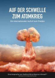auf der schwelle zum atomkrieg - Ahmadiyya Muslim Jamaat Schweiz