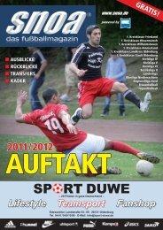 Auftakt 2011/2012 - SNOA - das fußballportal