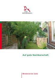 Auf gute Nachbarschaft - Ministerium der Justiz - Land Brandenburg