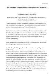 Anforderungen Fachbereich 2_Master - Folkwang Universität der ...