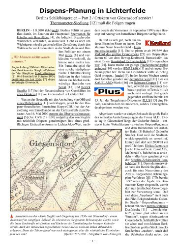 Dispens-Planung in Lichterfelde  - khd-Blog
