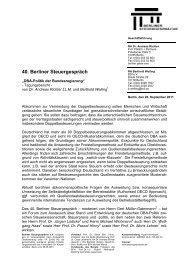 Tagungsbericht zum 40. Berliner Steuergespräch