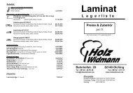 Laminatböden - Holz Widmann