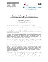 Zu einer Hoffnung in Christus berufen - cec-assembly
