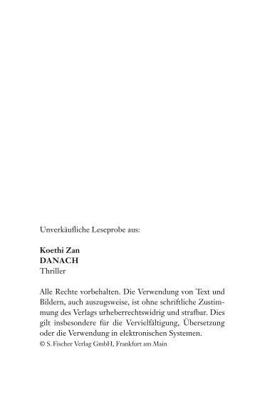 Unverkäufliche Leseprobe aus: Koethi Zan ... - S. Fischer Verlag