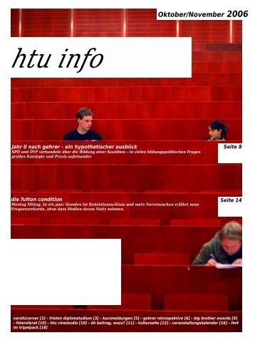 Oktober/November 2006 htu info