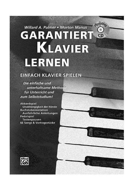 Auszüge aus GARANTIERT KLAVIER LERNEN