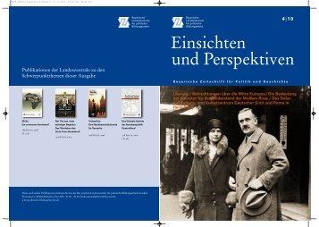 4/2010 - Bayerische Landeszentrale für politische Bildungsarbeit ...