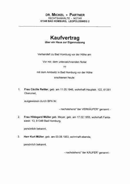 Kaufvertrag Haus Zur Eigennutzung Drmickel De