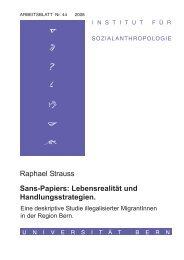Arbeitsblätter des Instituts für Sozialanthropologie - Schweizerisches ...