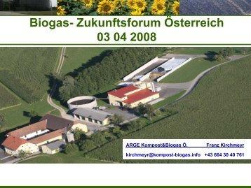 Biogas- Zukunftsforum Österreich 03 04 2008
