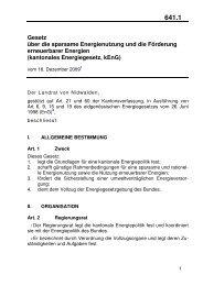 kantonales Energiegesetz, kEnG - Energie Zentralschweiz
