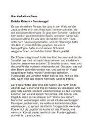 Brüder Grimm - Fundevogel - Erzähler ohne Grenzen