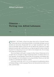 Cézanne – Vortrag von Alfred Lehmann - Alfred Lehmann-Stiftung