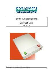 Handbuch CareCall vital - Hospicom