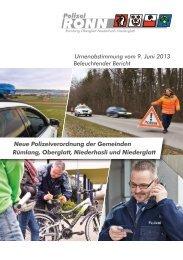 Neue Polizeiverordnung der Gemeinden Rümlang ... - Polizei RONN