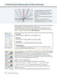Höhere Ableitungen, Wendepunkte (PDF-Datei)