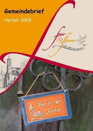 GB Herbst 2009 - Aktueller Gemeindebrief