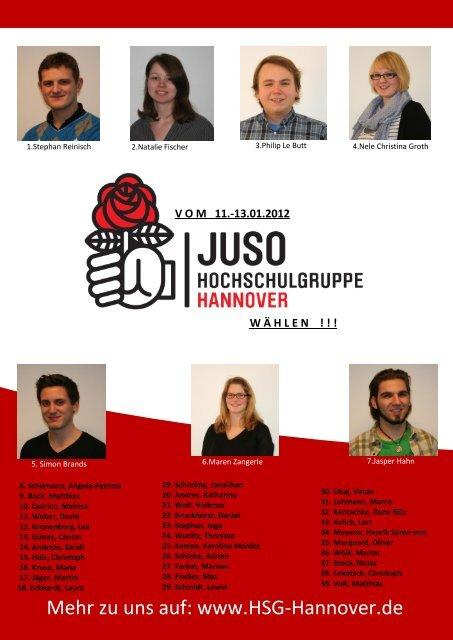 StuRa Zeitung - Jusos Hochschulgruppe Hannover