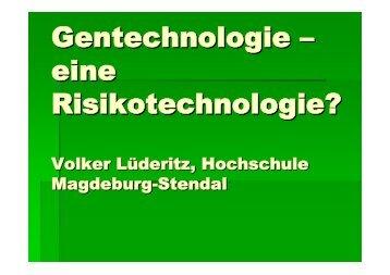 Gentechnologie - Hochschule Magdeburg-Stendal