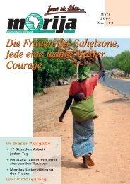 Die Frauen der Sahelzone, jede eine wahre Mutter Courage ... - Morija