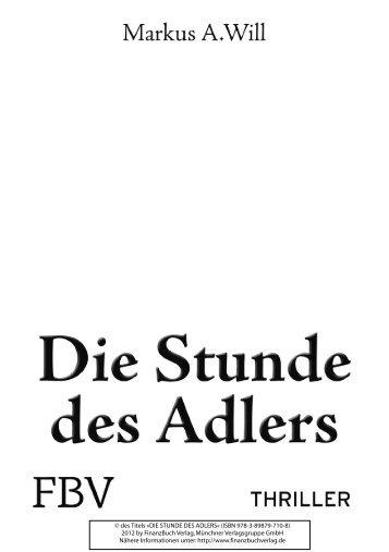 Die Stunde des Adlers - Markus A. Will