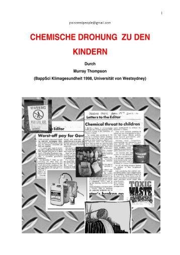 Chemische Bedrohung für Kinder - Poisoning & Legal Action