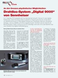 """Drahtlos-System """"Digital 9000"""" von Sennheiser"""