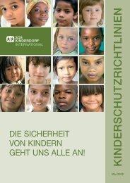 Kinderschutzrichtlinien - SOS-Kinderdorf International