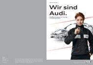 mit einer Ausbildung im Audi Handel schaffen Sie die Grund