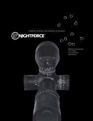 präzise optiken für präzises schiessen - Nightforce Optics, Inc.