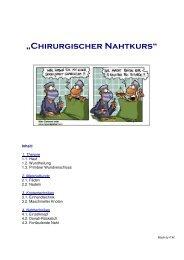"""""""Chirurgischer Nahtkurs"""" - inside-campus.de"""