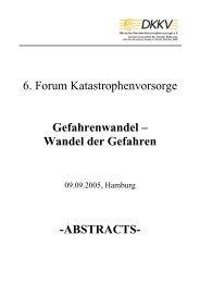 ABSTRACTS - Hans von Storch